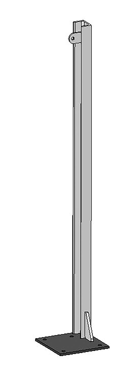 U-Profil für Holzbohlen, L= 1,20 m doppelt, mit Bodenplatte, vz