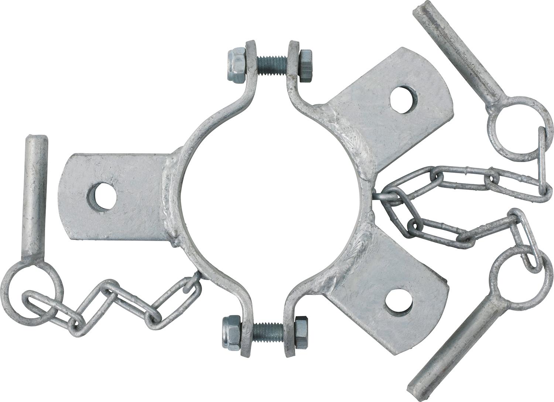 Schelle d=102 mm, 3 Halter, mittig, vz