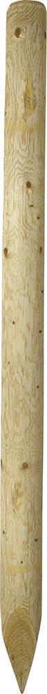 Holzpfosten, d=10 cm, imprägniert, gespitzt