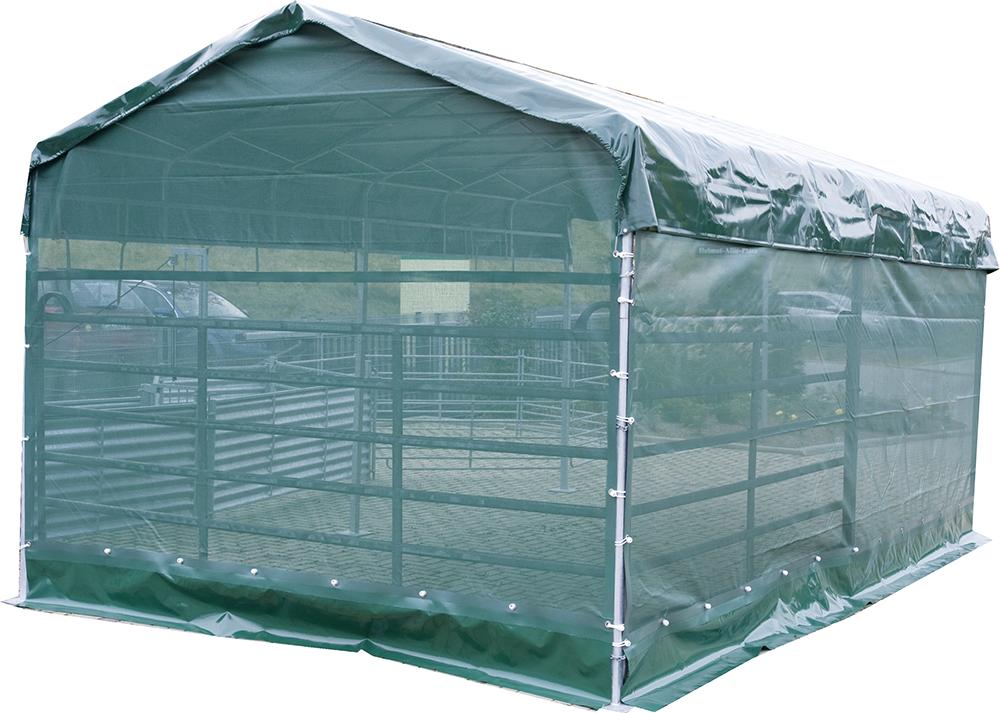 Windschutznetz für Panel-Dach 6 x 3,6 m Seitenteil L = 6 m