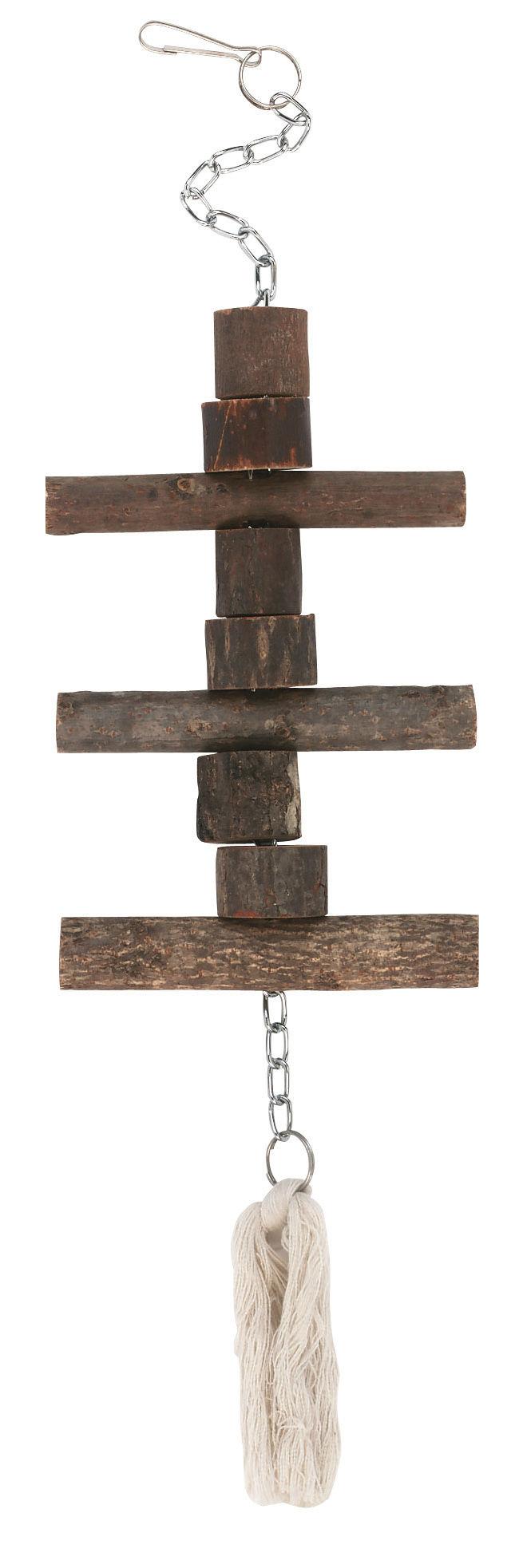 Papageienspielzeug, Naturholz, 40 cm
