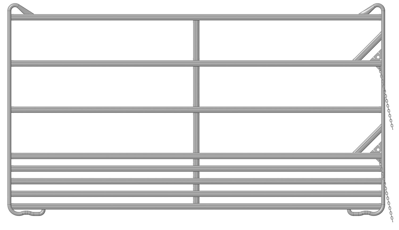 Sicherheits-Pferde-Panel 3,60 m