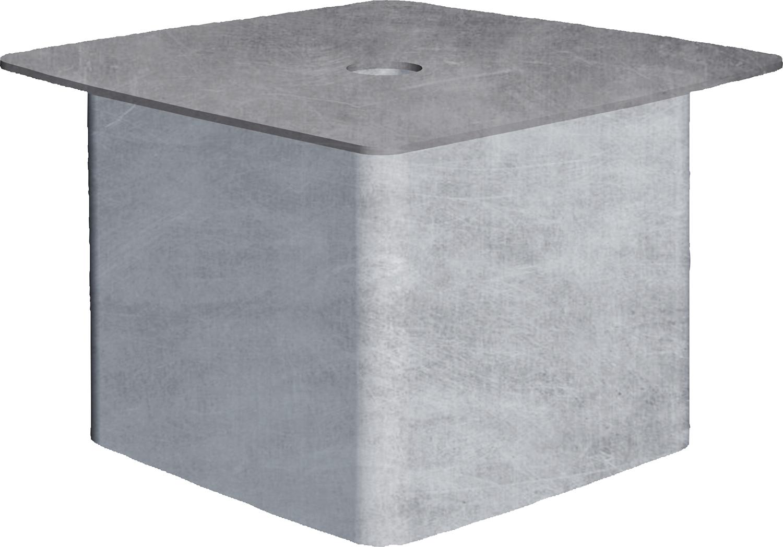 Abdeckung für Einbauhülse Quadrat 90 mm