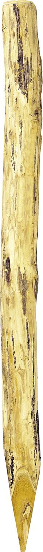 Robinienpfahl, rund, d=14-16 cm gefast, 4-fach gespitzt, entrindet