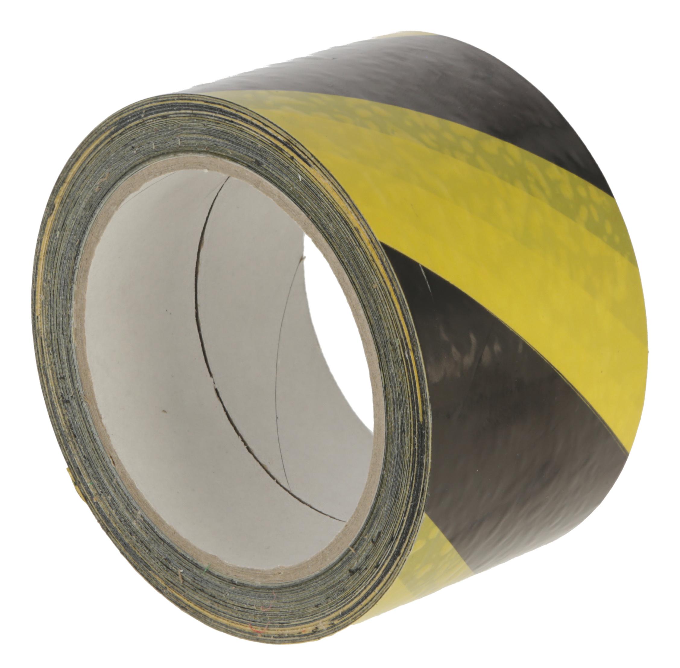 Warnband selbstklebend gelb-schwarz, 66mx60mm