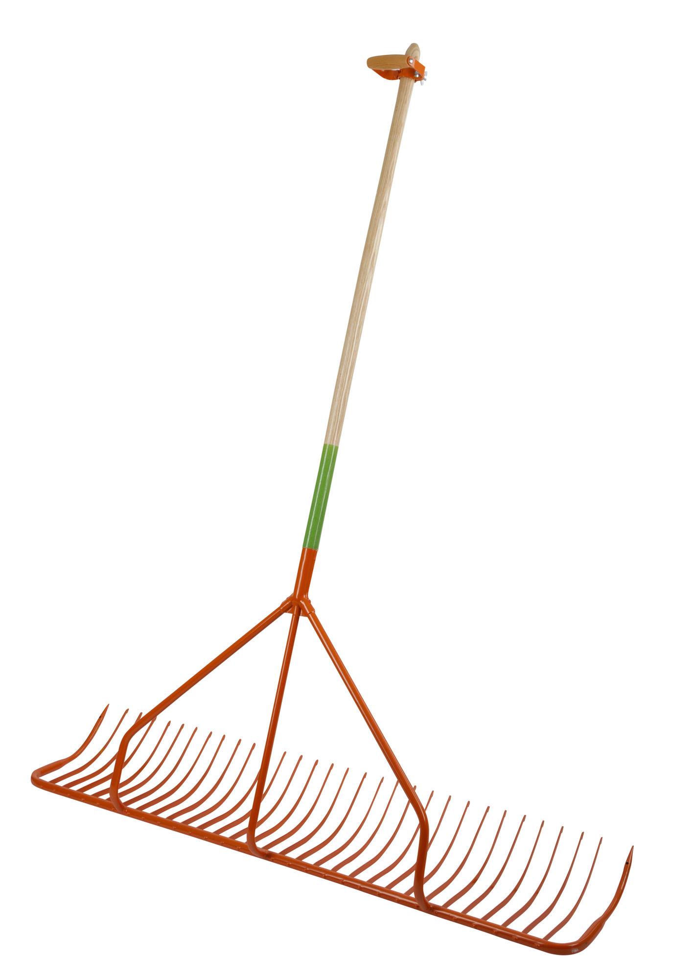Handschlepprechen mit  Außenzinken und Stiel, 131 cm