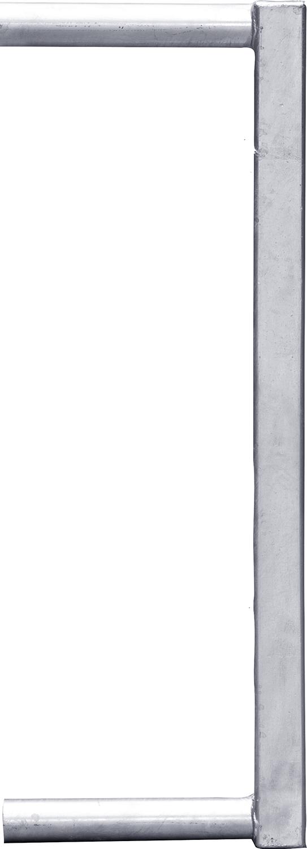 Abschlussrohr 60x60 für Fressgitter f. Schnellverschluss TS und Anschraubt.