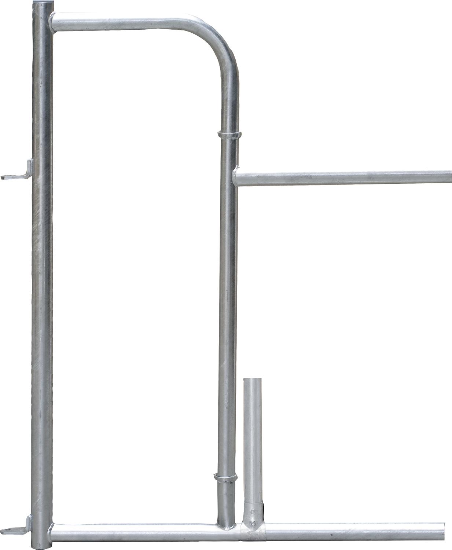 Personenschlupf für Freßgitter, ohne Tür mit Mittelstütze