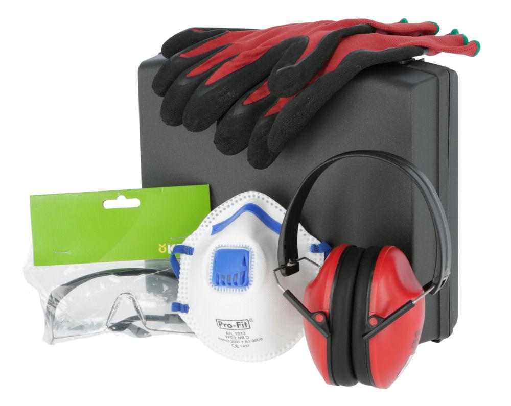 PSA-Set im Koffer Brille, Maske, Handsch, Gehör