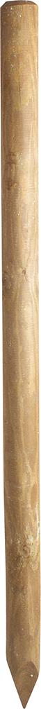 Holzpfosten, d= 7 cm, imprägniert, gespitzt