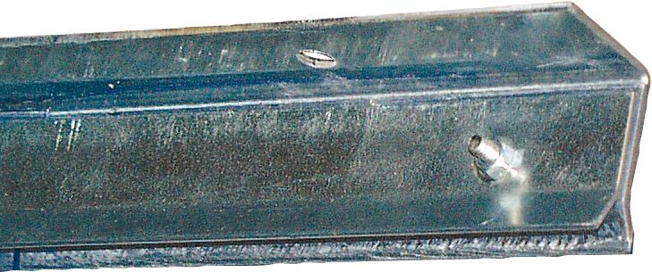 Klemmprofil, Unter Sturz-Montage für Streifenvorhang