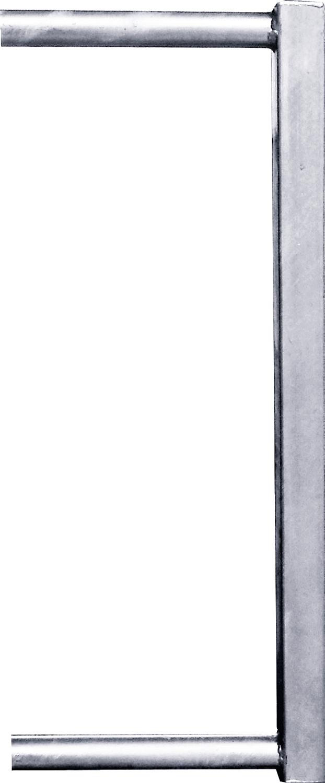 Abschlussrohr 45x45 f. Kälberfressgitter f. Schnellverschluss TS und Anschraubt.