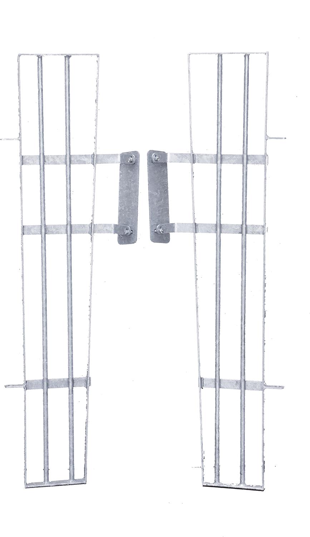 Anschluss für Kälberhütte XL an Panels 1 Satz = 2 Gitter