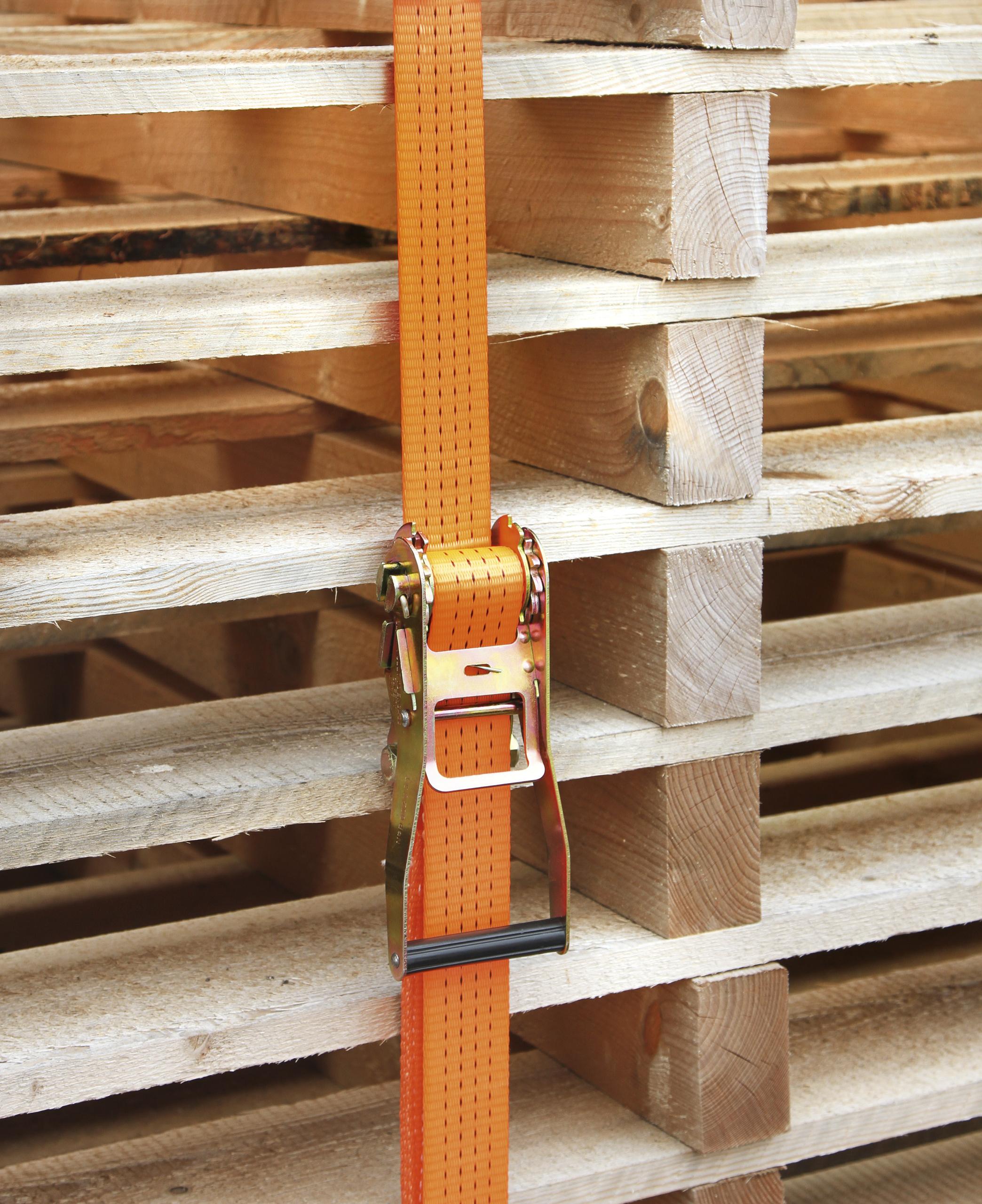 Ratschenzurrgurt 2-tlg. orange 50 mm / 12m, 4000 kg