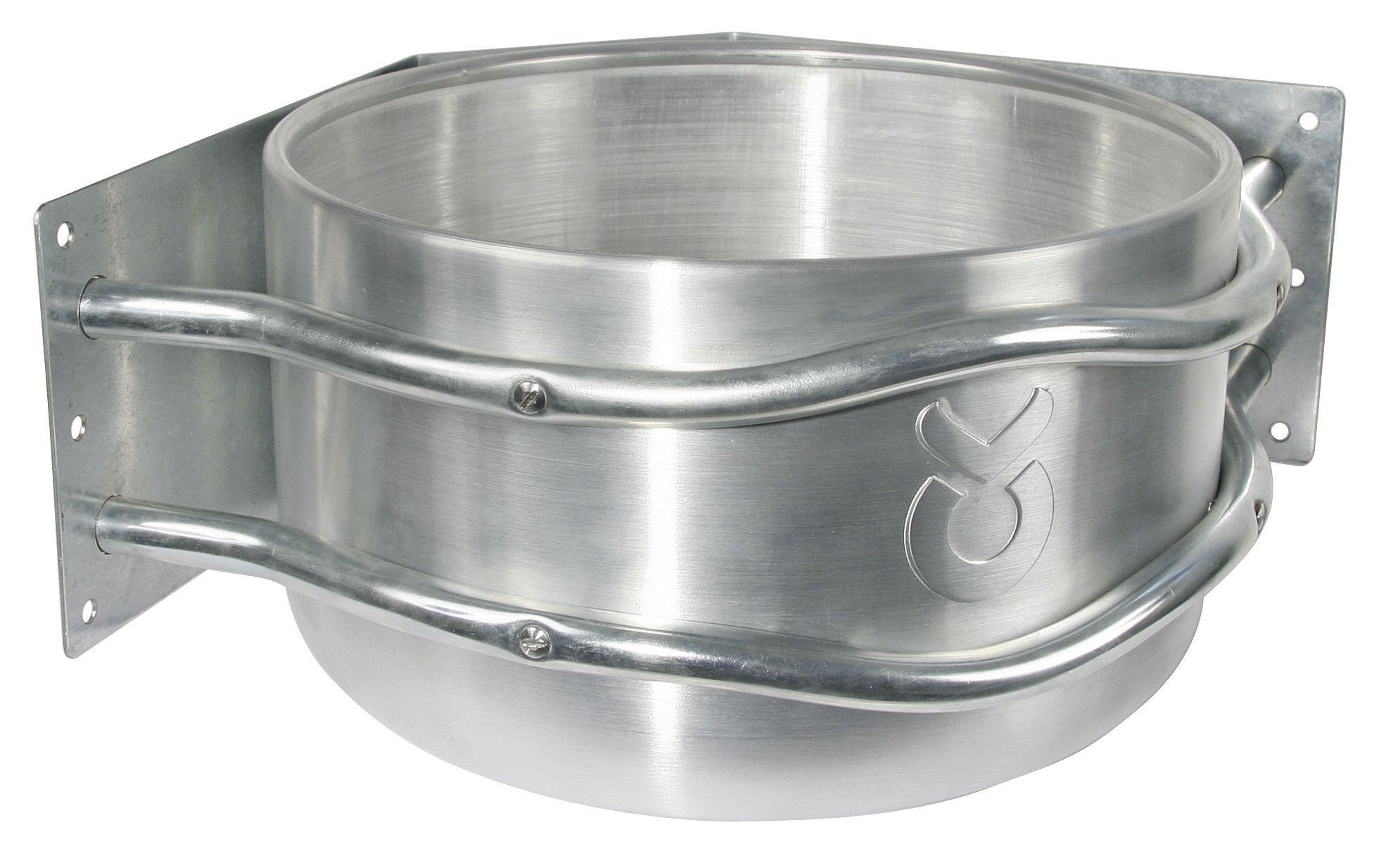 Futtertrog Aluminium, ca. 18l, zur Eckmontage, mit Ablauf
