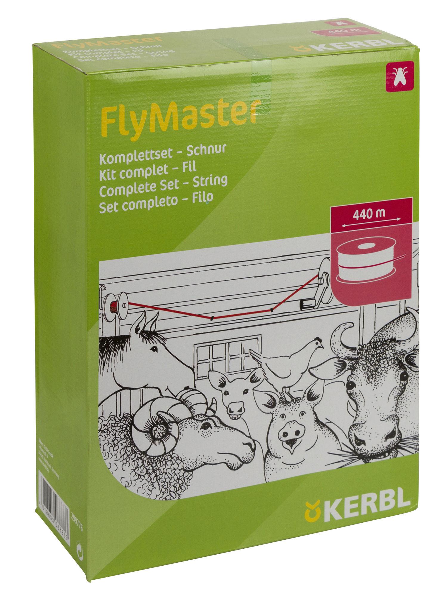 FlyMaster Fliegenschnur Komplettset 440mtr.