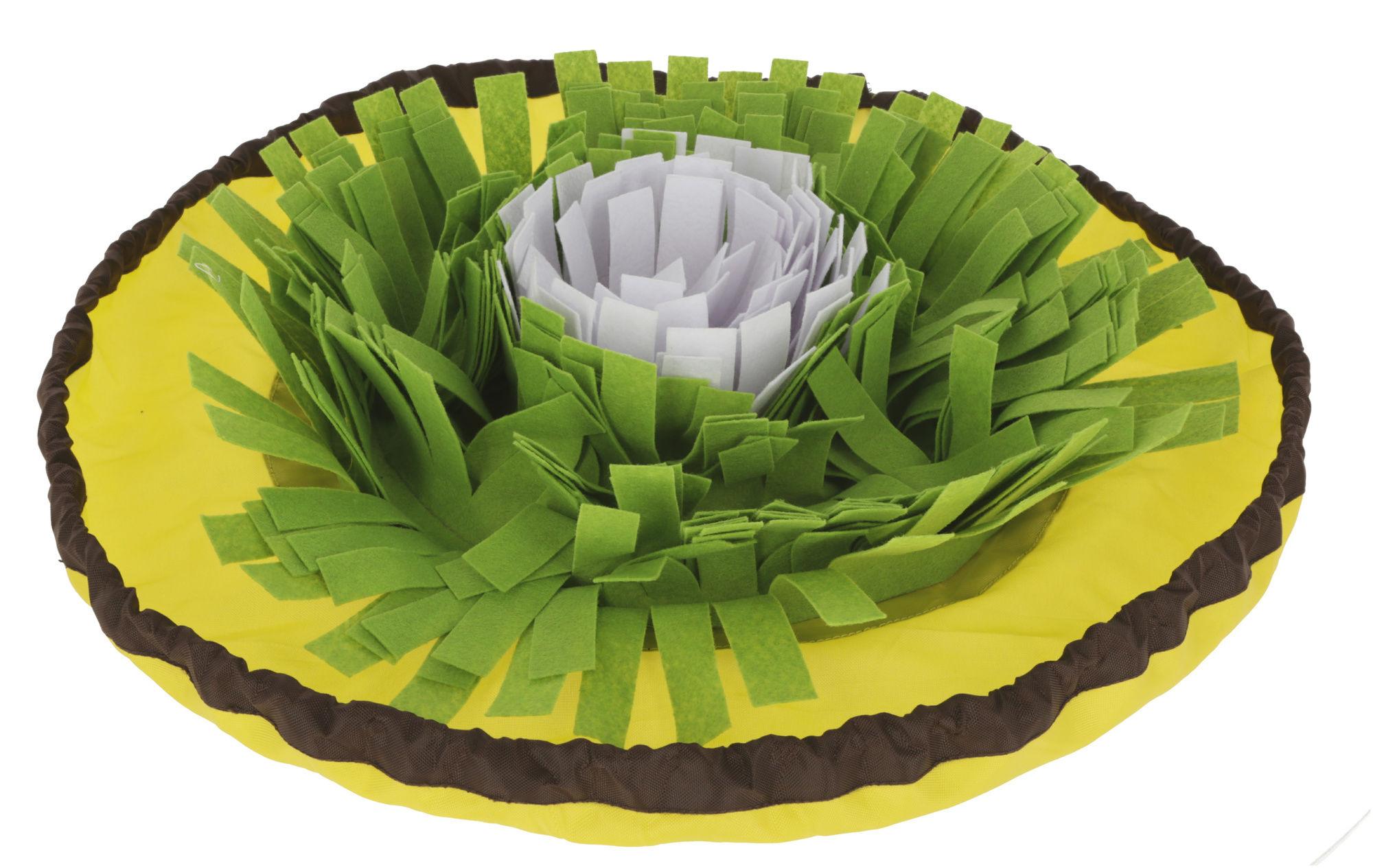 Schnüffelteppich Bowl gelb/grün/weiß, Ø 60cm