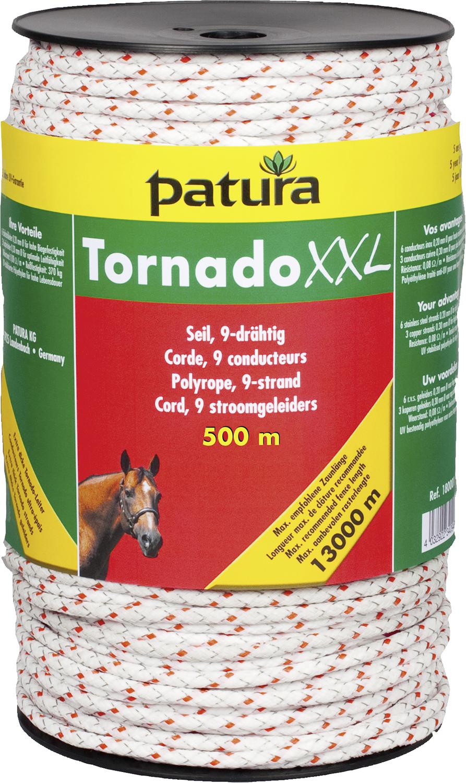 Tornado XXL Seil, 6 Niro 0,20 mm, 3 Cu 0,30 mm, weiß-rot