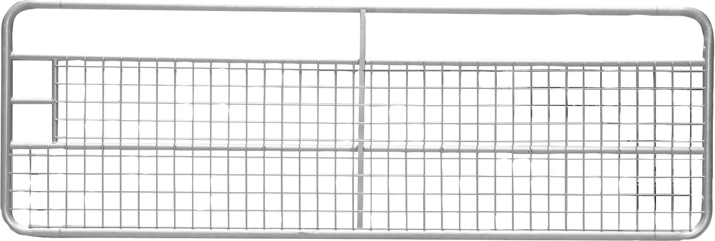 Weidetor mit Gitter, verzinkt inkl. Montageteile