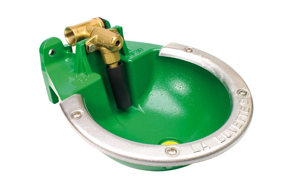 Rohrventil-Becken F30A mit Antikleckerrand