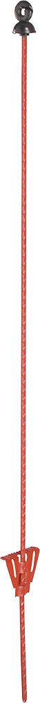 Federstahlpfahl oval, 1,00 m, mit Ringisolator