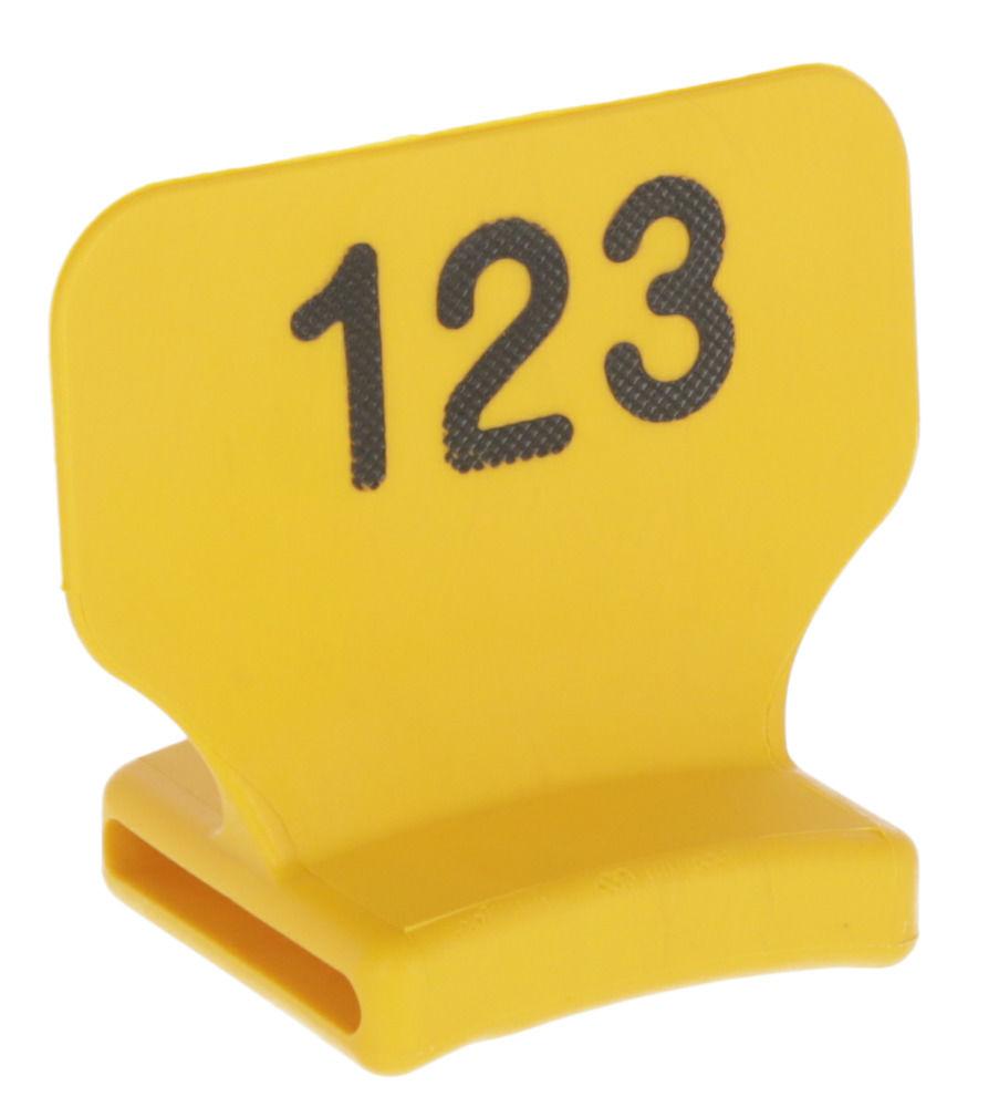 Nummernblock stehend, gelb bedruckt