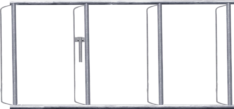 Rahmen zur Halsweiteneinstellung für Selbstfangfressgitter