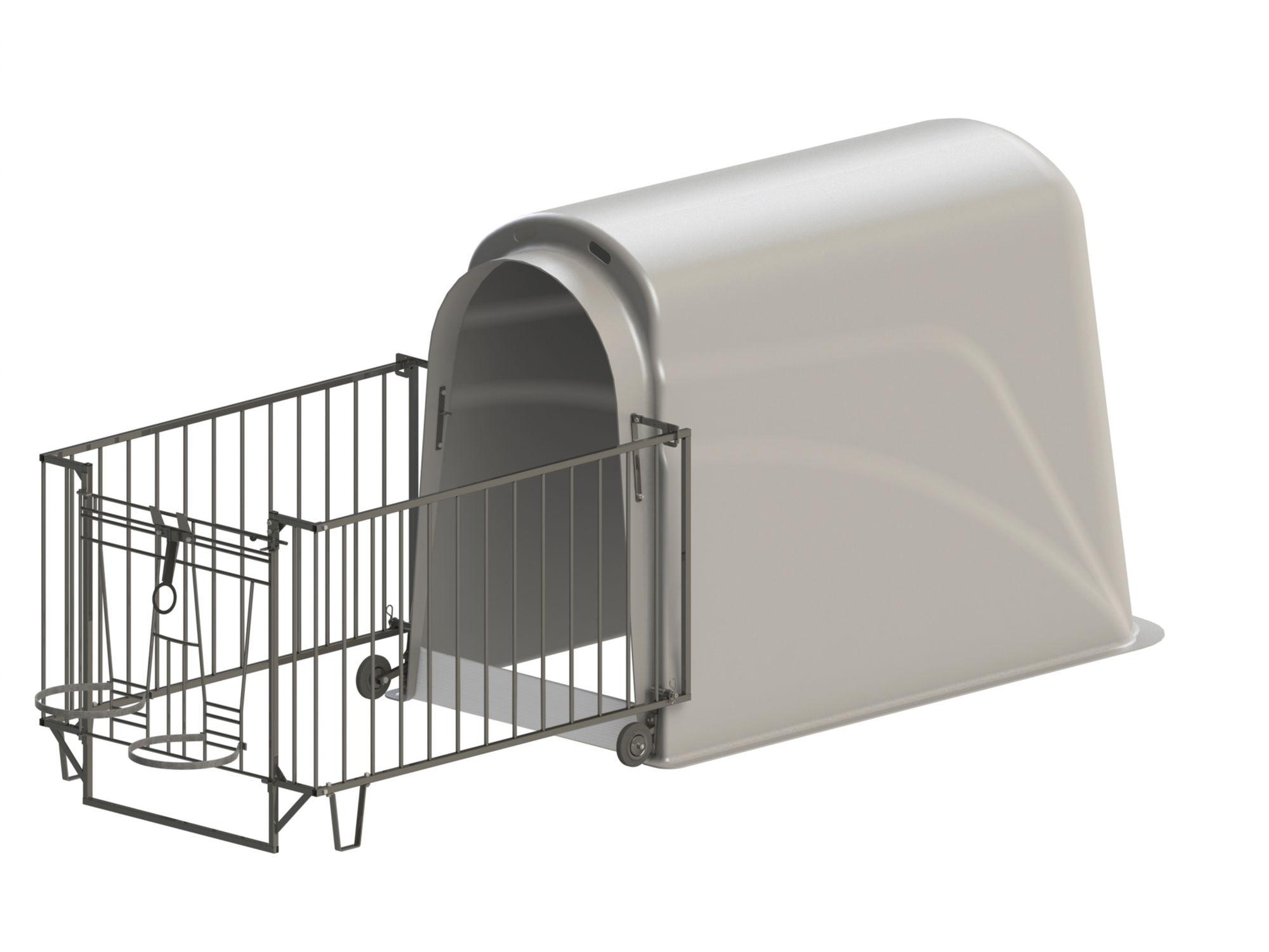 CalfHouse Premium Plus mit leichter Umzäunung