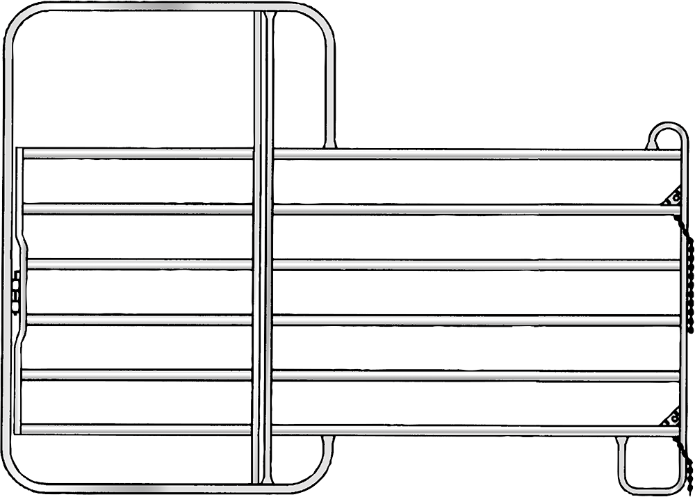 Panel mit Tor, Höhe 2,20 m, vz