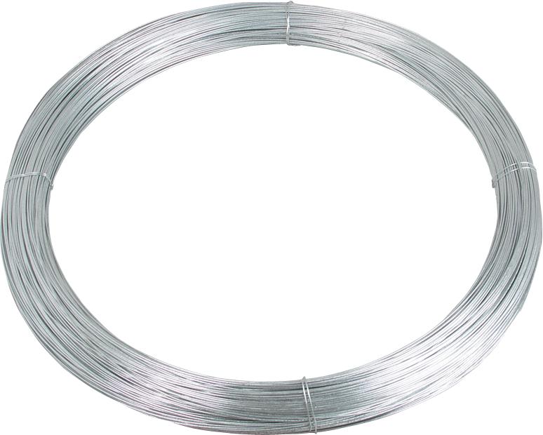 Stahldraht, d= 2,5 mm, dick verzinkt, 25 kg Rolle = 625 m
