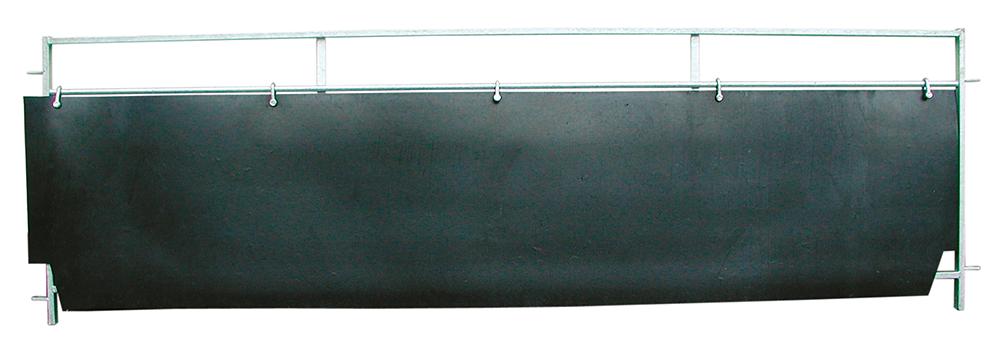 Gummi-Wandverkleidung, L= 2,98 m, H= 63 cm (2 Stück)