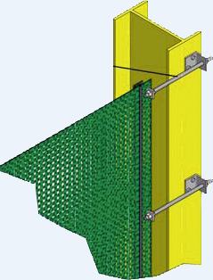 Montage-Set zum Spannen von Windschutznetz