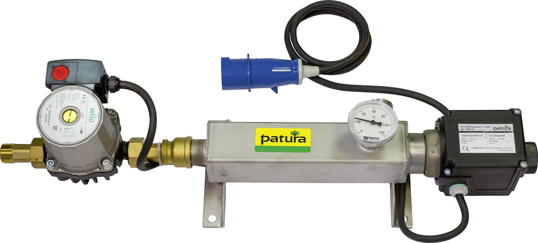 Umlaufheizsystem Mod. Compact mit Thermostat, Umwälzpumpe, Thermometer