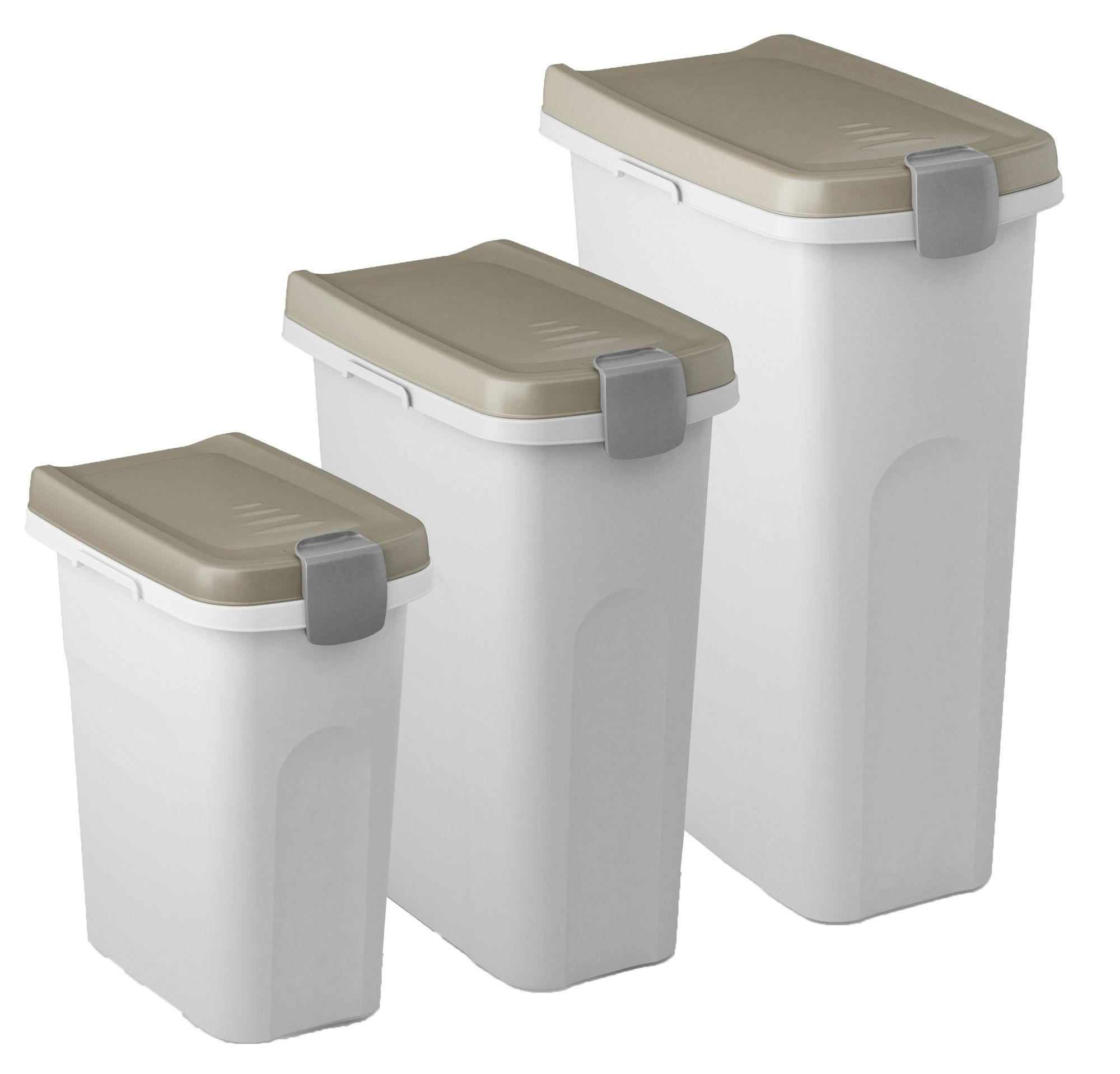 Petfood-Container 40 lt, braun/weiß