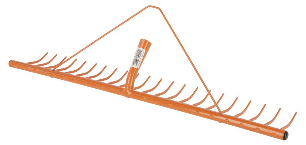 Heurechen m. Schwanhalsdülle ohne Stiel, 22 Zk, 78 cm