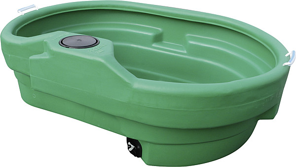 Weidetränke, oval, 400 Liter, ohne Schwimmerventil, 40 cm hoch