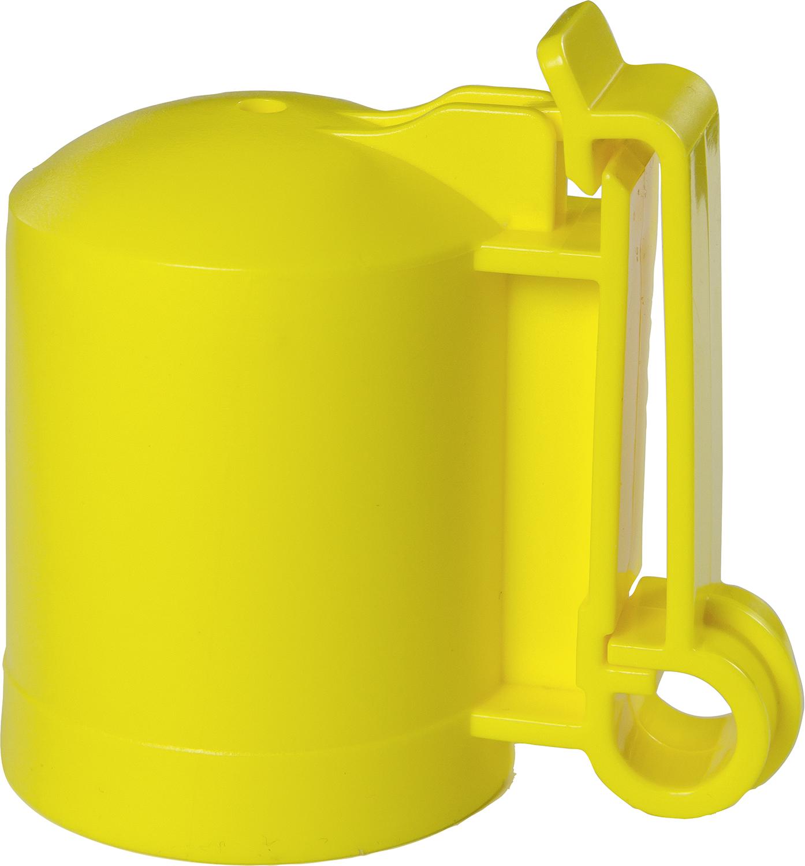 Kappen-Isolator f. T-Pfosten -GELB-