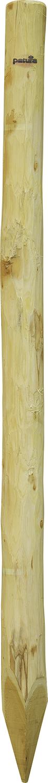 Robinienpfahl, rund, d=10-12 cm gefast, 4-fach gespitzt, entrindet