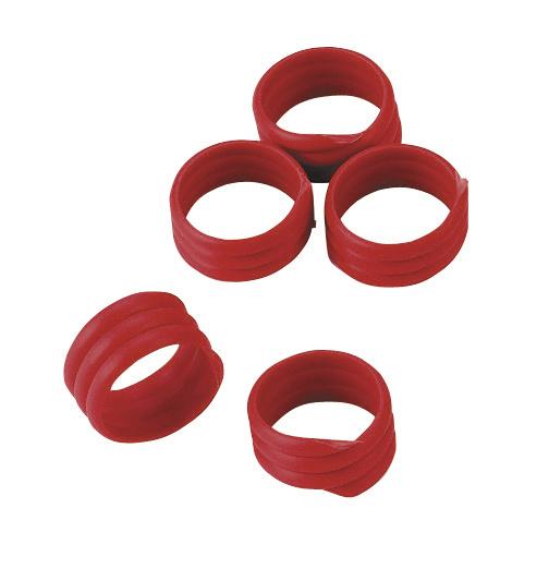 Spiralringe,16mm, rot,Kunstst. zu 20 St. im Pack