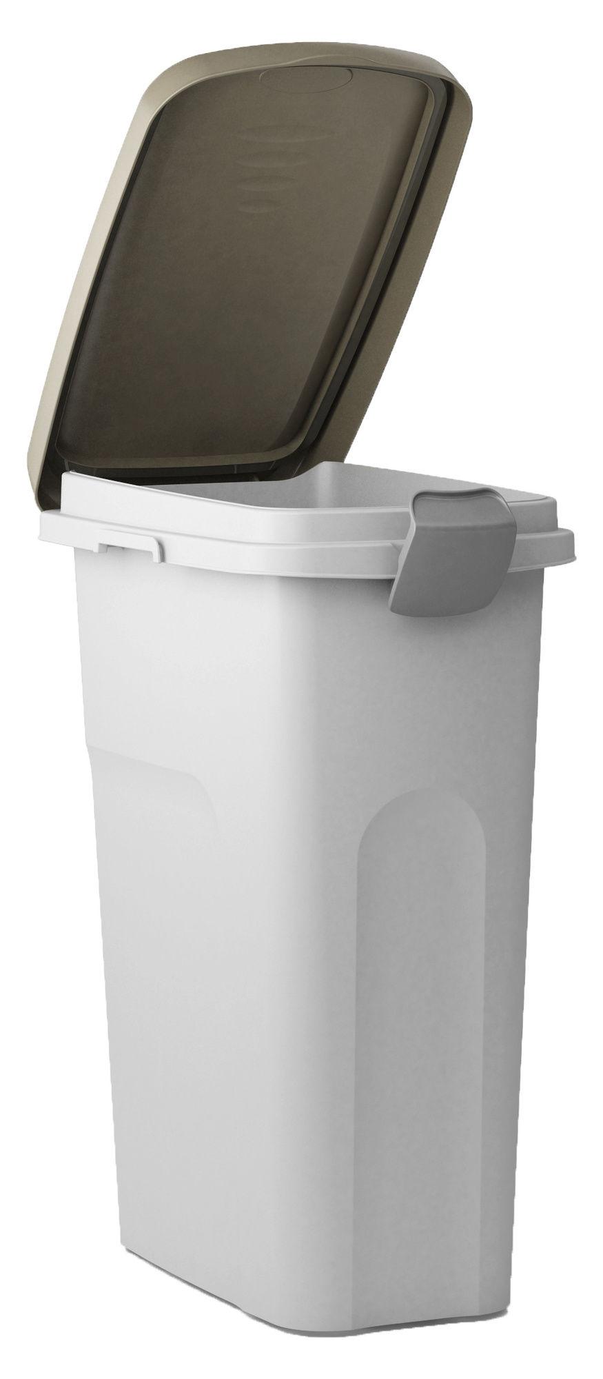 Petfood-Container 15 lt, braun/weiß