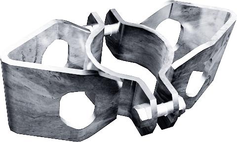 Schelle d=76 mm, 2 Riegelhalter RS, parallel
