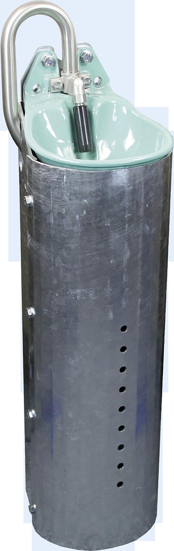 Stahlständer für Mod. 25 R Höhe 80 cm, feuerverzinkt
