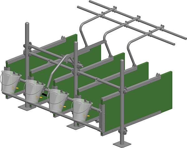 Nuckeleimerhalter für Rohr 42 mm Kälberfress- und Tränkestand