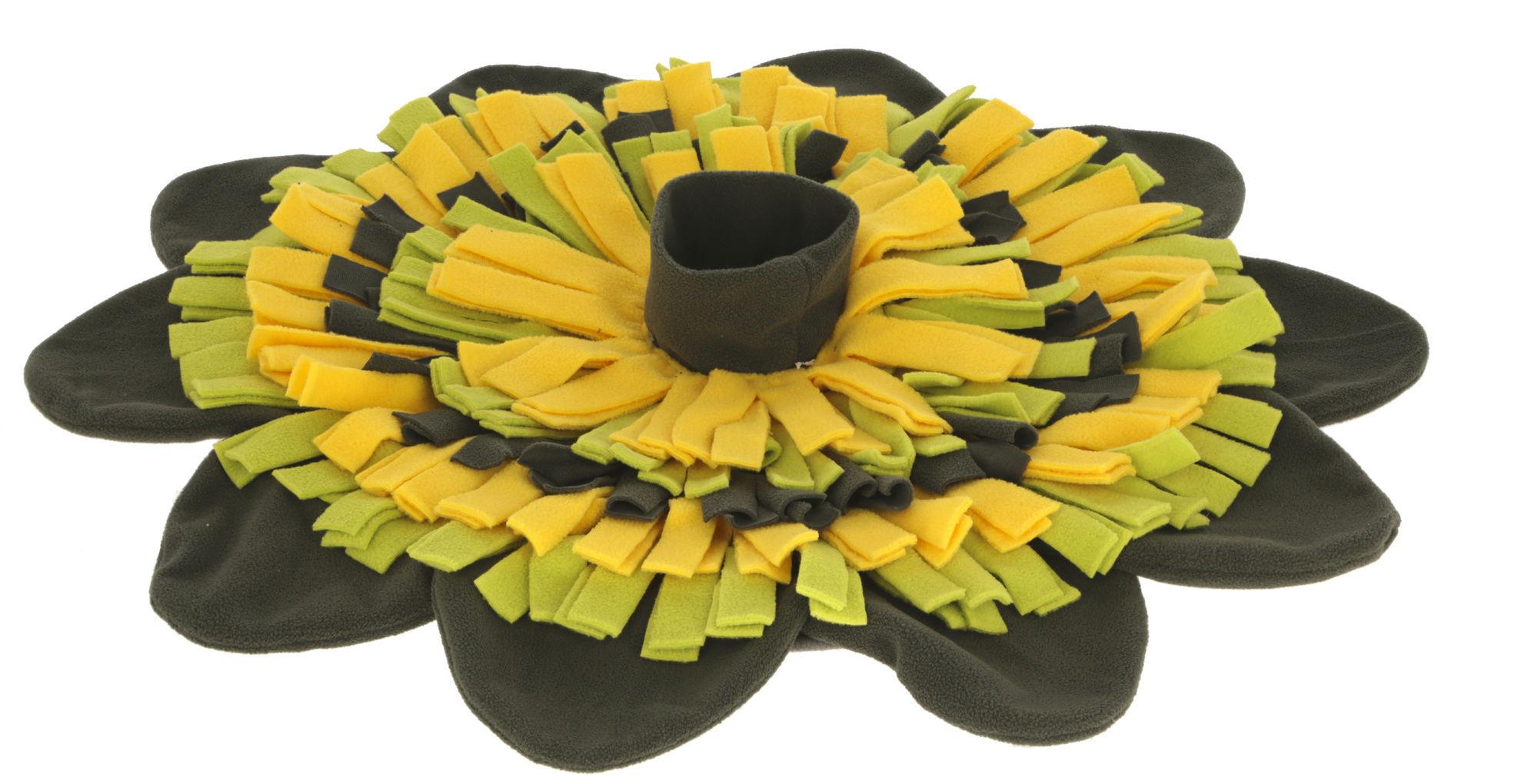 Schnüffelteppich Sunflower gelb/grün, Ø 60cm