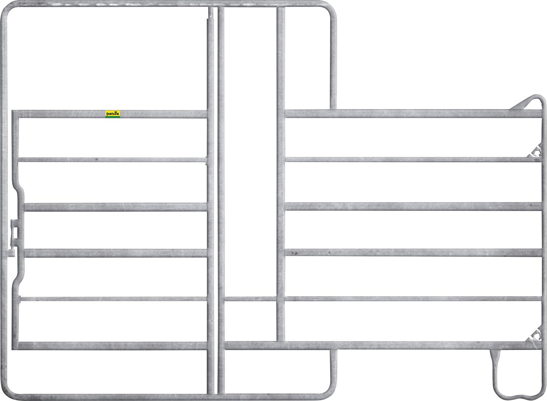 Panel-6 mit Tor und Fressgitter 1 Fressplatz