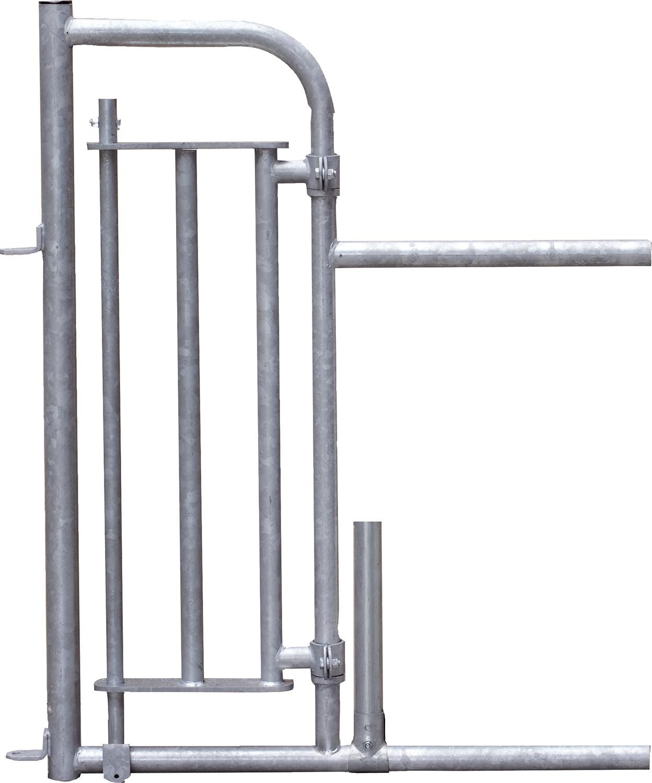 Personenschlupf für Freßgitter, mit Tür mit Mittelstütze