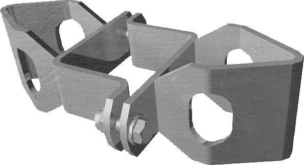 Schelle Quadrat 90 mm, mit 2 Riegelhalter RS, parallel