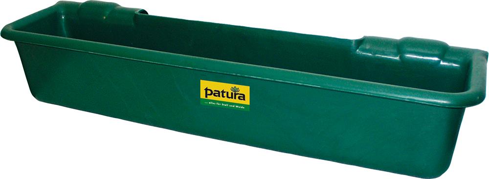 """Kunststoff-Langtrog, 50 Liter, grün zum Einhängen in Rohre bis 2"""""""