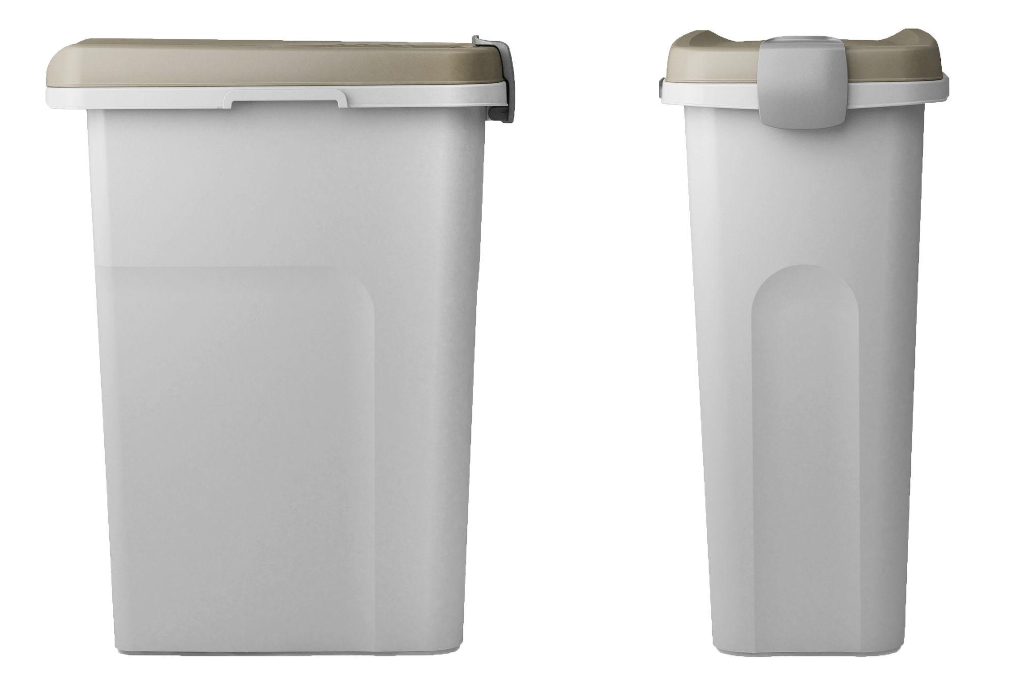 Petfood-Container 25 lt, braun/weiß