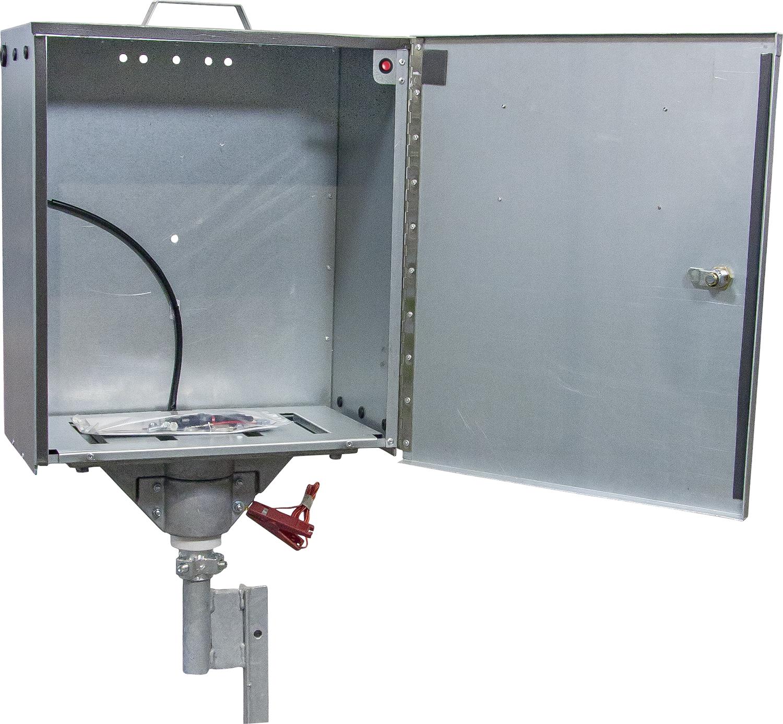 Sicherheitsbox für PATURA Geräte mit Verkabelung und Erdstab